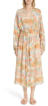 Elizabeth and James Norma Floral Print Silk Dress