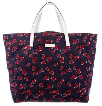 Gucci Canvas Tote Navy Canvas Tote