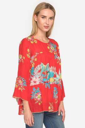 Johnny Was Peonies Garden Blouse