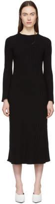 Simon Miller Black Stretch Wide Rib Wells Dress