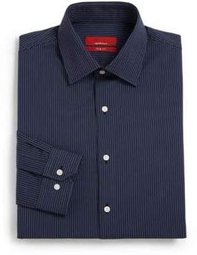 Saks Fifth Avenue RED Trim-Fit Striped Cotton Shirt
