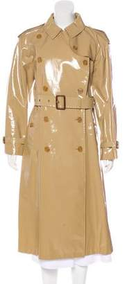 Burberry Vinyl Trench Coat w/ Tags