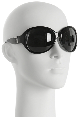 Fendi black round oversized sunglasses