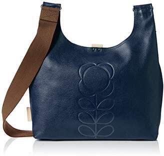 Orla Kiely Embossed Flower Leather Midi Sling Bag