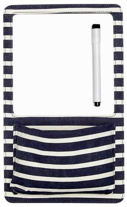 Pottery Barn Teen Northfield Navy Stripe Dry Erase Pocket