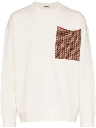 Jil Sander knitted patch pocket cotton top