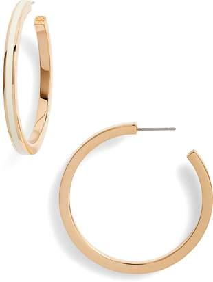 Tory Burch Enameled Hoop Earrings