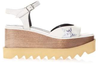 Stella McCartney Elyse White Faux Leather Sandals