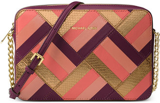 MICHAEL Michael Kors Marquetry Patchwork Jet Set Travel Large East West Crossbody $228 thestylecure.com