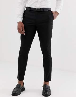 Burton Menswear skinny suit pants in black