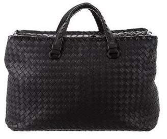 Bottega Veneta Snakeskin-Trimmed Medium Milano Bag
