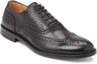Antonio Maurizi Black Wingtip Leather Brogue Oxfords