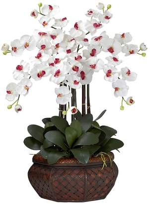Nearly Natural nearly natural Silk Phalaenopsis Large Floral Arrangement