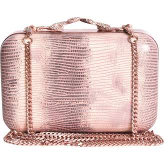 House Of Harlow Pink Leather Clutch Bag