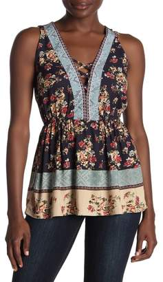 Angie Floral Criss-Cross Tank Top