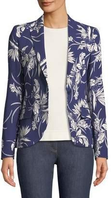 Escada Tropical-Print One-Button Blazer