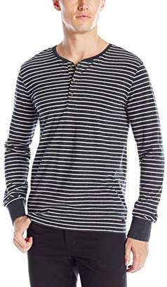 Scotch & Soda Men's Longsleeve Grandad Henley in Cotton Quality with Neps