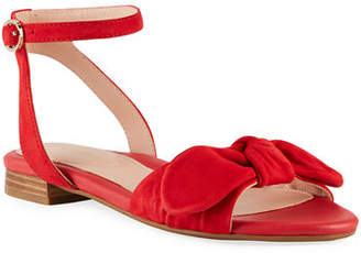 Taryn Rose Velda Ankle-Strap Bow Sandals