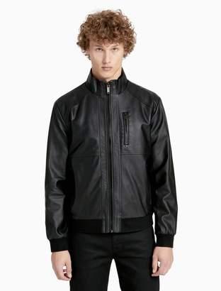 Calvin Klein faux leather zip jacket