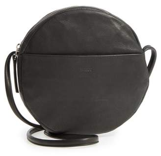 Baggu Circle Calfskin Leather Crossbody Bag