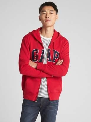 Gap Fleece logo zip hoodie
