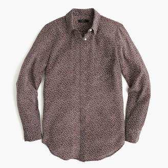 J.Crew Petite silk button-up shirt in party dot