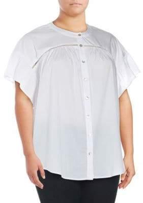 Bobeau Plus McKenna Poplin Shirt
