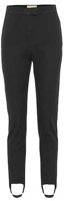 Burberry Cotton-blend twill stirrup pants