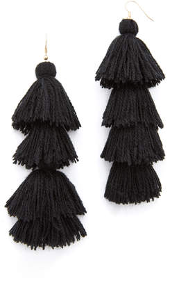 MISA Solid Tassel Earrings $96 thestylecure.com