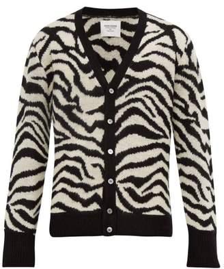 Noon Goons Tiger Jacquard Cardigan - Mens - Black White