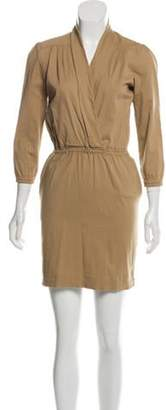 Tommy Hilfiger Structured Mini Dress Khaki Structured Mini Dress