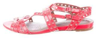 Tabitha Simmons Neon Multi-strap Sandals