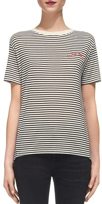 Whistles Très Bon Embroidered Tee $99 thestylecure.com