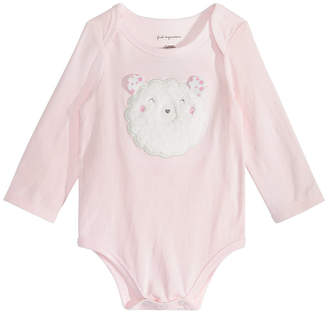 First Impressions Baby Girls Lamb Bodysuit, Created for Macy's