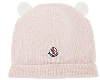 Moncler bear ear beanie hat