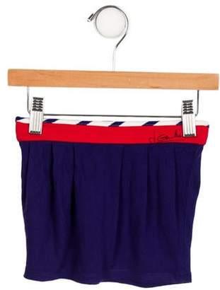 Junior Gaultier Girls' Gathered Striped-Accented Skirt