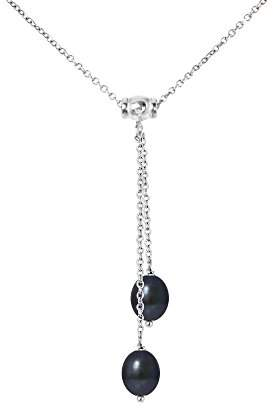 Valero Pearls Sterling Silver 925 rhodium-plated Ladies Necklace with Freshwater cultured pearls white grey 00400320 ZhO6YTBN0