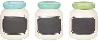 Anna Gare Blackboard Spice Jar, Cool (One Jar Only), Cream/Blue/Aqua/Green