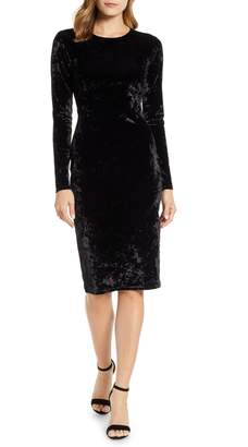 MICHAEL Michael Kors Panne Velvet Sheath Dress
