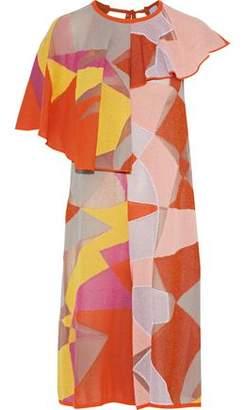 M Missoni Cropped Metallic Crochet Cotton-Blend Jumpsuit