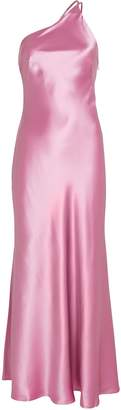 Galvan Roxy One-Shoulder Silk Gown