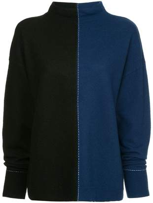 Robert Rodriguez colour blocked jumper