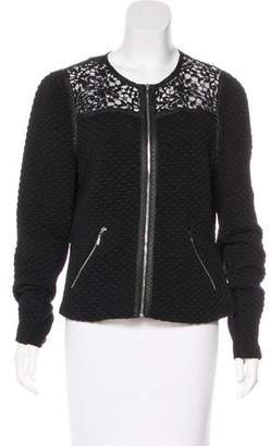 Rebecca Taylor Quilted Zip-Up Jacket
