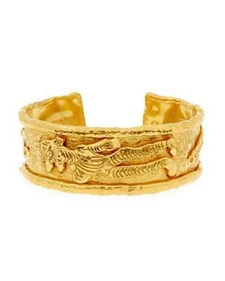 Jean Mahie 22K Gold Charming Monster Cuff Bracelet $28,000 thestylecure.com