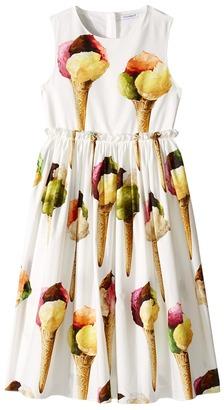 Dolce & Gabbana Kids - Gelato Poplin Dress Girl's Dress $545 thestylecure.com