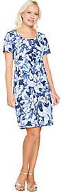 Isaac Mizrahi Live!SOHO Short Sleeve FloralCamo Dress