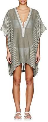 Su Women's Lamu Striped Cotton Short Caftan