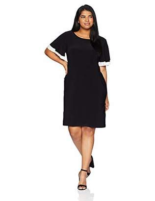 Tiana B Women's Size Plus Shift Dress with Duble Flared Sleeves