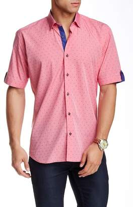 Maceoo Luxor Dot Print Short Sleeve Semi Slim Fit Shirt (Big & Tall Available) $169 thestylecure.com