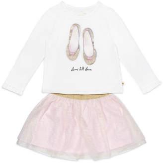 Kate Spade dance till dawn top w/ glitter skirt, size 12-24 months
